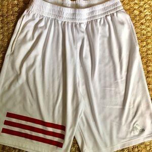 4KRFT climachill shorts white triple red stripe